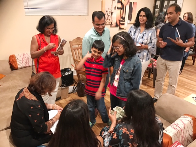 "One-year anniversary celebrations, of best-selling poetry collection ""Saris and a Single Malt,"" in San Jose, California."