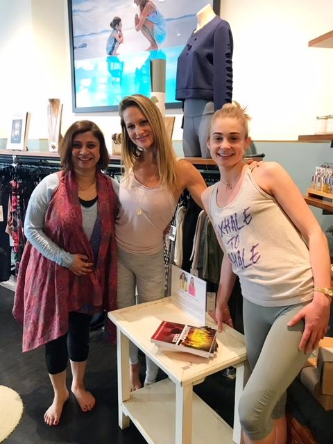 With Sarah Platt-Finger of Ishta Yoga & Zoe LePlage of Exhale to Inhale.