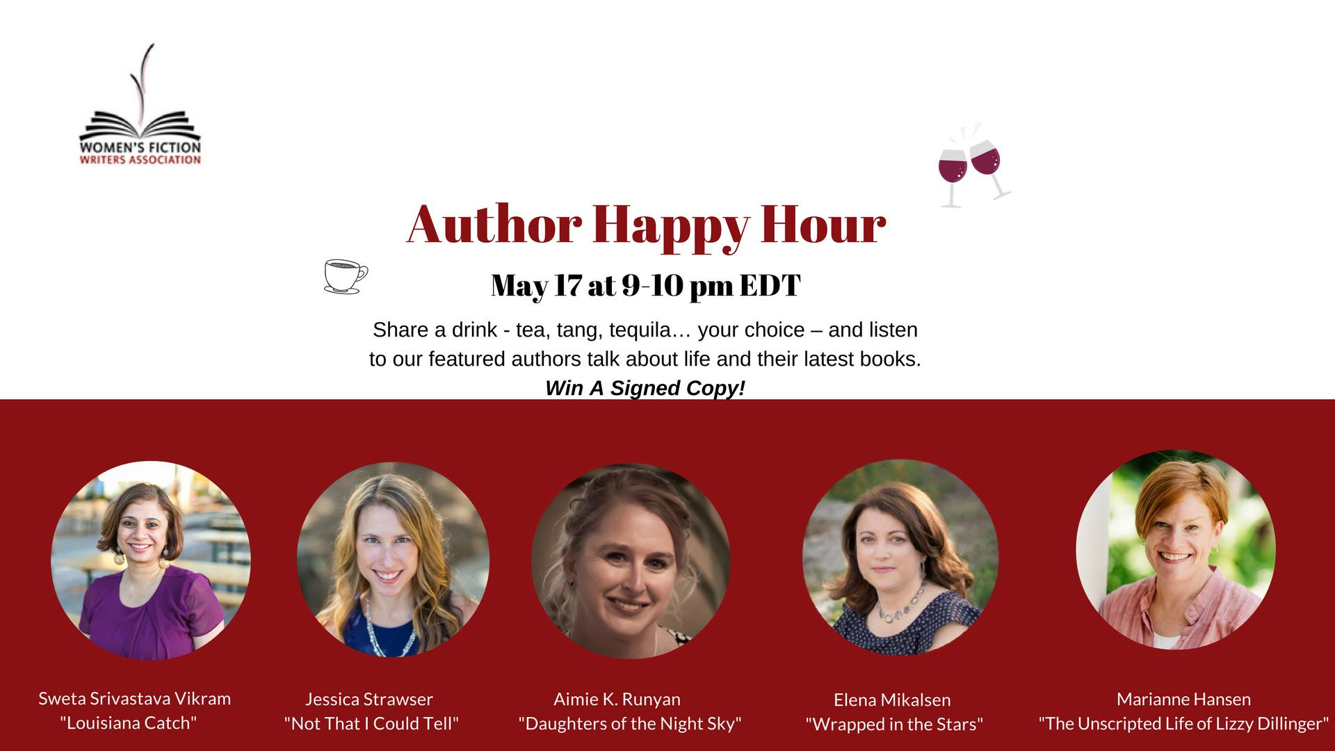 AUTHOR HAPPY HOUR