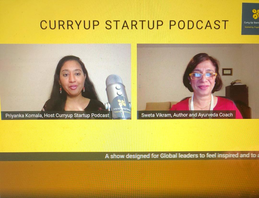 Podcast interview with #CurryUpStartUp Podcast.